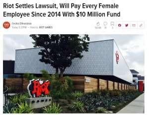 久7卡盟:拳头性别歧视诉讼结果:将向2014年后在职的女性员工集体支付1千万美元