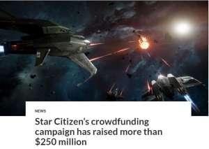 超凡卡盟:《星际公民》众筹金额超2.5亿美刀 人数达244万