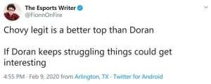 辅助护盾回冲:英雄联盟:ESPN记者暗示?——Chovy比Doran更加适合上路