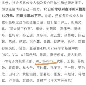 蜂巢辅助vip:如果我不说,你不一定知道Theshy为中国做了这两件善事,太有爱心