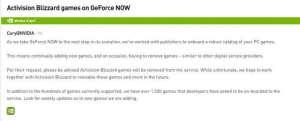 魅族模拟辅助:动视和暴雪的游戏从英伟达云服务平台上被移除