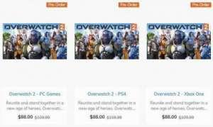 南雨辅助:国外商城显示《守望先锋2》8月28日发售