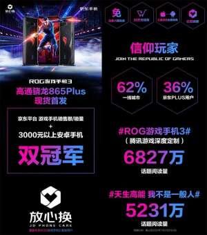 天月卡盟:游戏玩家都不会错过的机型,ROG游戏手机3拿下销量双冠军
